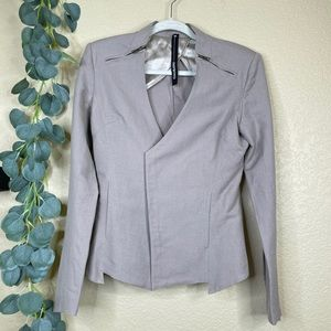 Improvd Rachel-Raja Tailored Zip Moto Linen Jacket